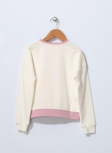 Pink&Orange Sweatshirt Beyaz